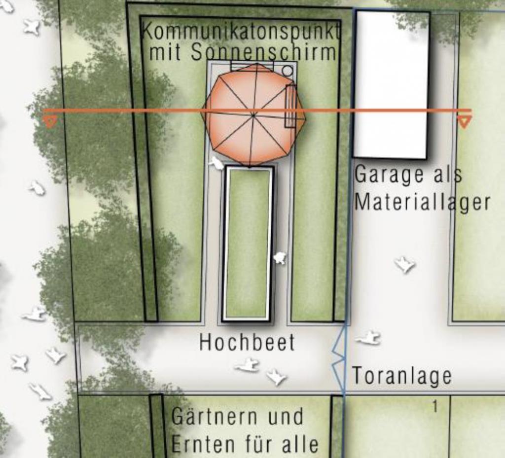 Schlossgärtnerei Skizze