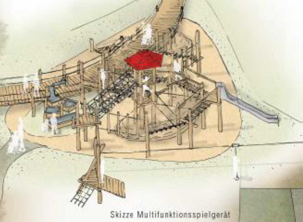 Spielplatz Schlosspark Skizze